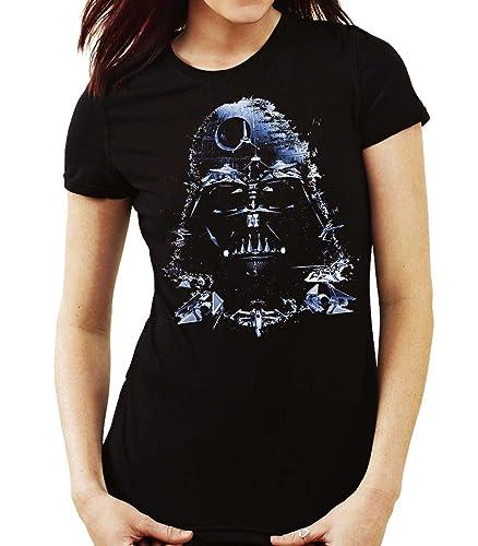 35mm - Camiseta Mujer Darth Vader Death Star-Star Wars