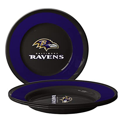 NFL Baltimore Ravens Plastic Plates 4-Pack  sc 1 st  Amazon.com & Amazon.com : NFL Baltimore Ravens Plastic Plates 4-Pack : Sports ...