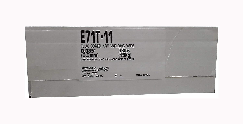 E71T-11 E71T-GS .035 .045 33 lb Flux cored Gasless steel weld wire E71T-GS .035