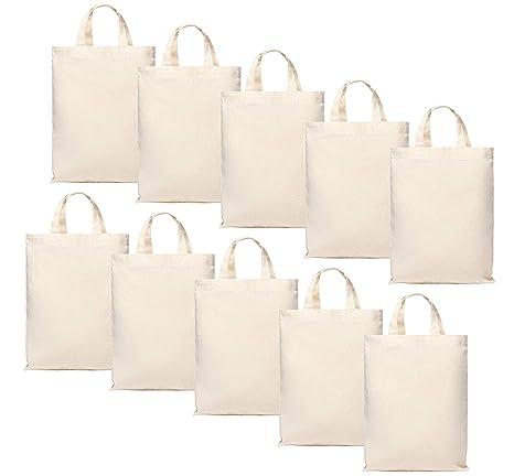 10 bolsas de algodón pequeñas de 22 x 26 cm - Bolsa de yute ...