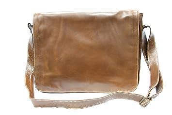 6cb945caf Boots And Leather - Bolso al hombro para hombre Marrón canela mediano:  Amazon.es: Equipaje
