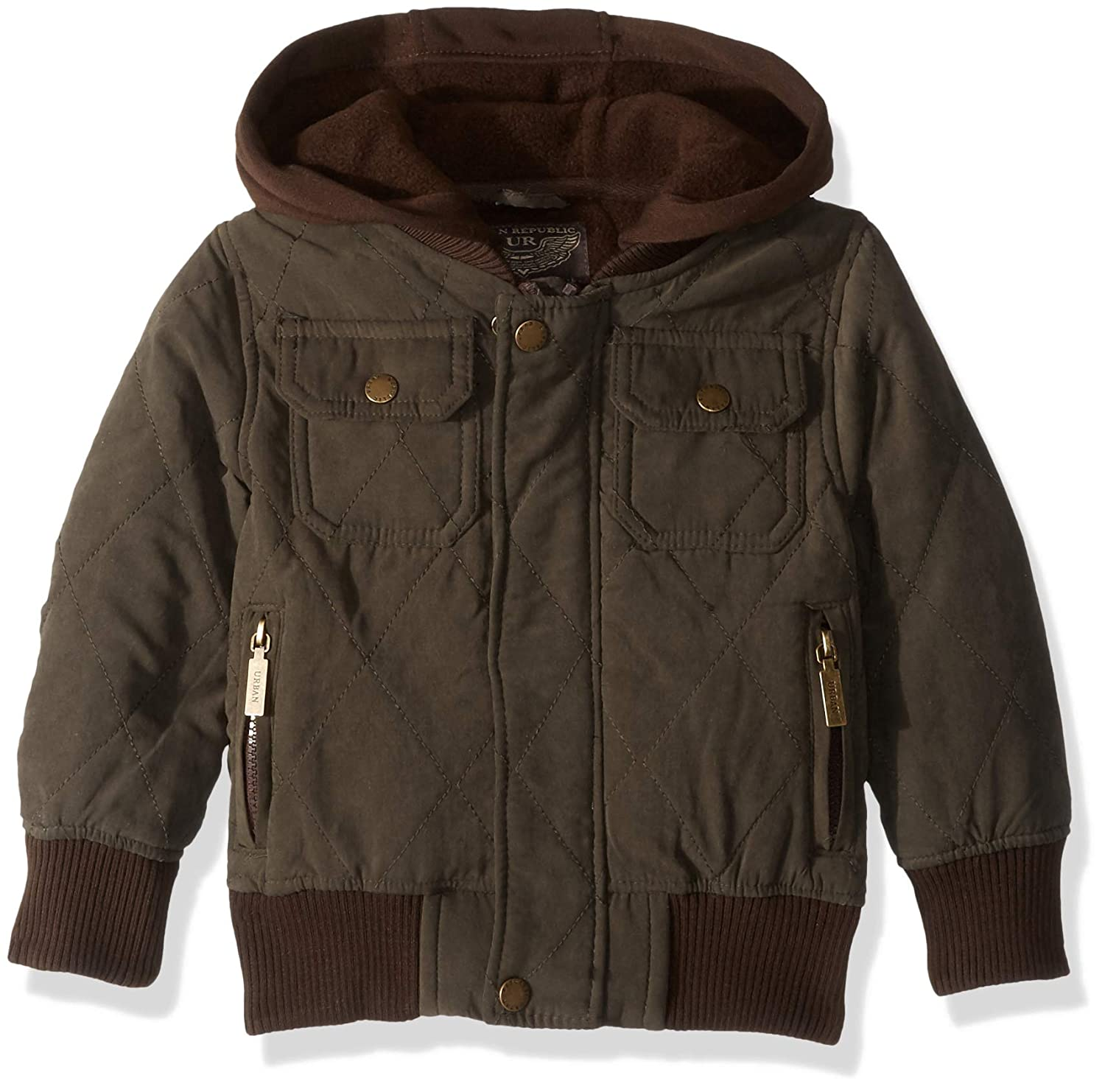 Urban Republic Boys Microfiber Quilted Polar Fleece JKT