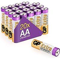 GP - Pack de 20 Pilas AA Alcalinas | Capacidad y duración excepcional | 1,5V LR06 - Mignon - MN1500-15A - AM3…