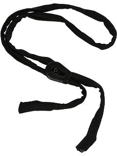 7c2e8681bff AEC Unisex Cotton Eyeglasses Neck Cord Lanyard Holder Sports Band (Black)
