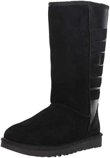 35edc96cea06 UGG Women s W Classic Tall Rubber Fashion Boot Black 6 ...