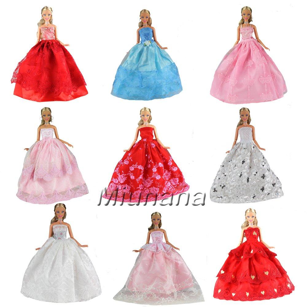 5er Packung Handmade Modisch Hochzeit Party Abendkleid Kleider ...