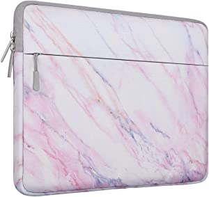 MOSISO Laptop Sleeve Bag Compatible with 2019 MacBook Pro 16 inch A2141, 15-15.6 inch MacBook Pro, Dell Lenovo HP Asus Acer Samsung Sony Chromebook, Canvas Horizontal Cross Grain Marble Bag Cover