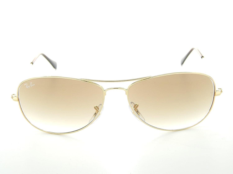 f12800552b856 Amazon.com  New Ray Ban Cockpit RB3362 001 51 Arista Crystal Brown Gradient  Lens 59mm Sunglasses  Clothing