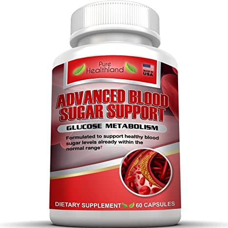 Amazon.com: ADVANCED BLOOD SUGAR SUPPORT Helps Maintain Healthy Blood Sugar Levels Already Within The Normal Range, Contains Cinnamon, Bitter Melon, Gaggul, ...