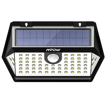 Mpow Basics Luz Solar de Pared 63LED, 3 Modos, PIR Sensor de Movimiento Sensible