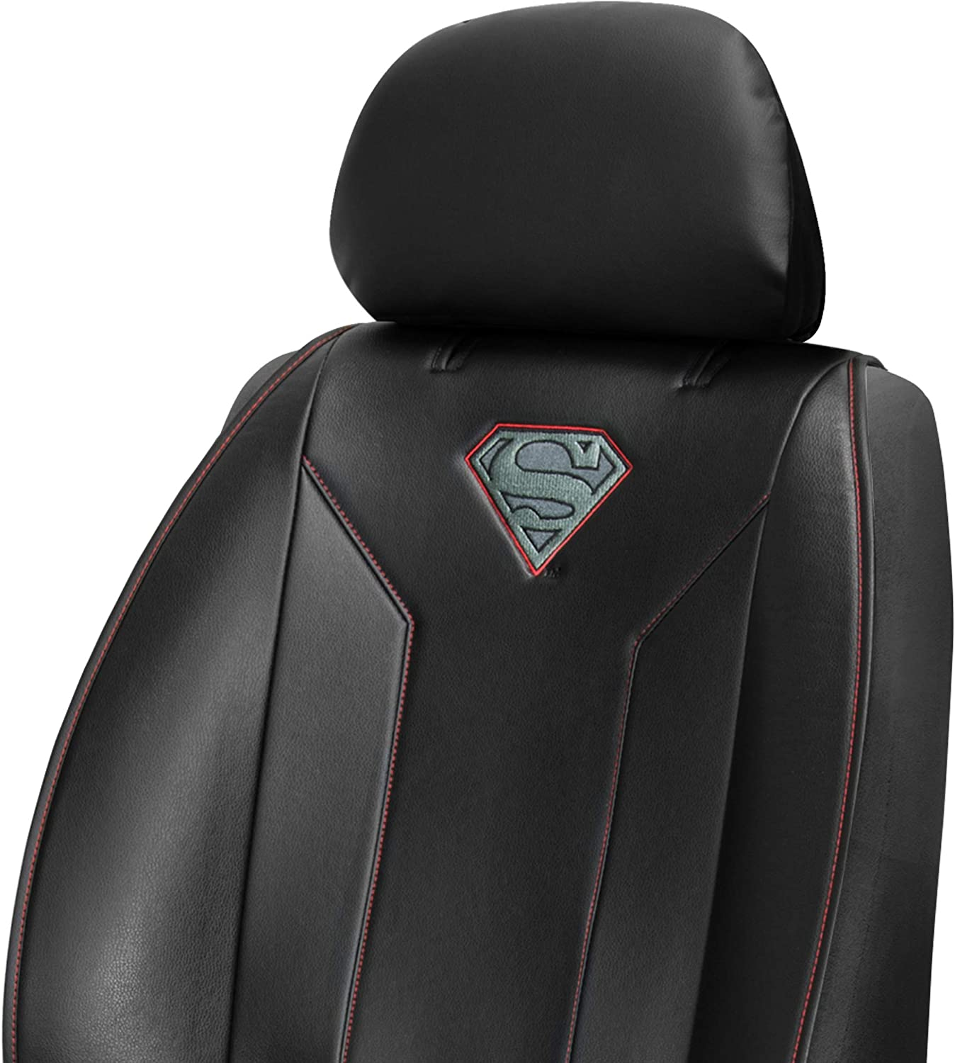 Plasticolor 008623R01 Captain America Shield Symbol Icon Marvel Premium Stitched Sideless Seat Cover with Cargo Pocket