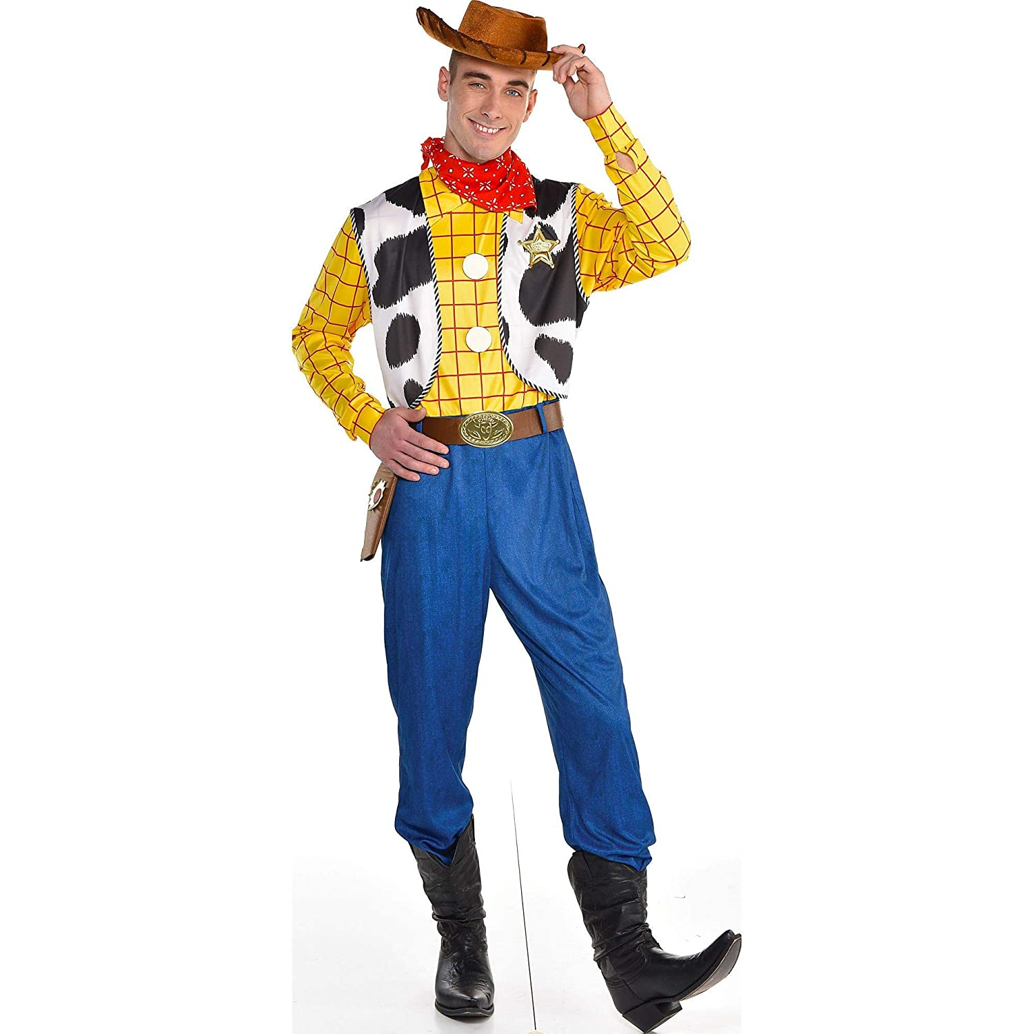 Party City Woody Halloween Costume for Men, Toy Story 4, Standard, with  Accessories
