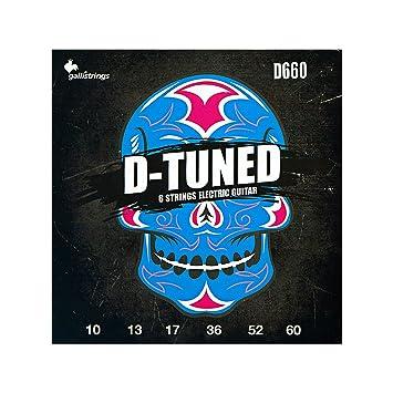 D660 D-TUNED Gallistrings 6-cuerdas para guitarra eléctrica (Acero/, 010 -, 060 lisa y heridas níquel redondo): Amazon.es: Instrumentos musicales