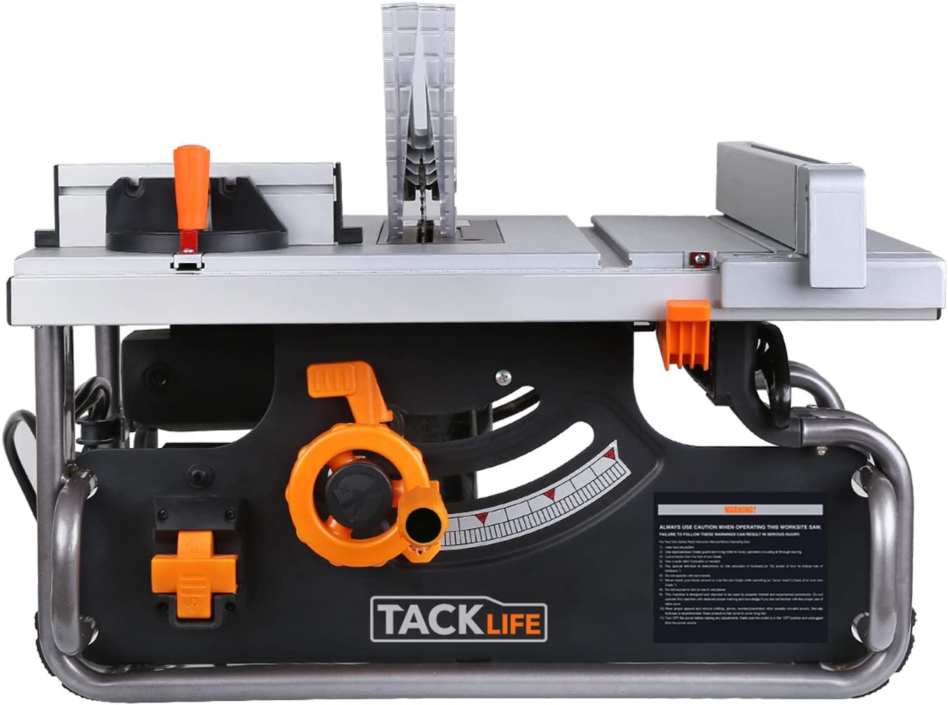 "Tacklife PTSG1A 10"" Table Saw with 40""X20"" Max Extendable, 15 Amp 120V, Extra Carbon Brush"