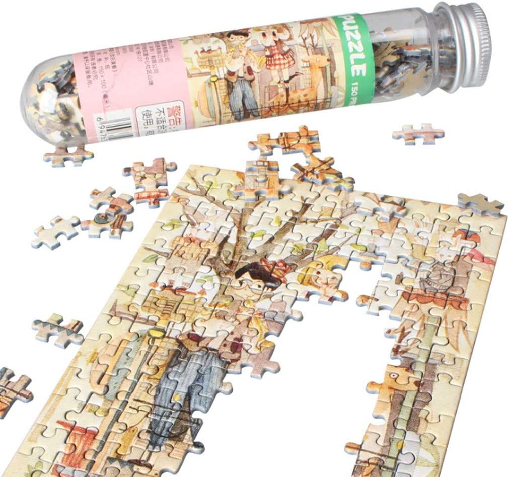 Haluoo 150 Pieces Mini Puzzles for Adult Kids Anime Landscape Jigsaw Puzzles for Women Girl Bedroom Decorative Pictures Learning Education Game Entertainment Decompression Toy
