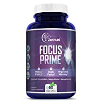 Focus, Memory, Clarity & Mood Support Brain Booster Supplement - Concentration Enhancer...