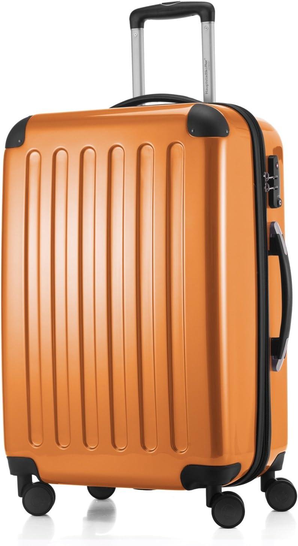 HAUPTSTADTKOFFER - Alex - Maleta Rígida Equipaje Mediano, Candado TSA, Trolley con 4 Ruedas multidireccional, TSA, 65 cm, 74 litros, Orange