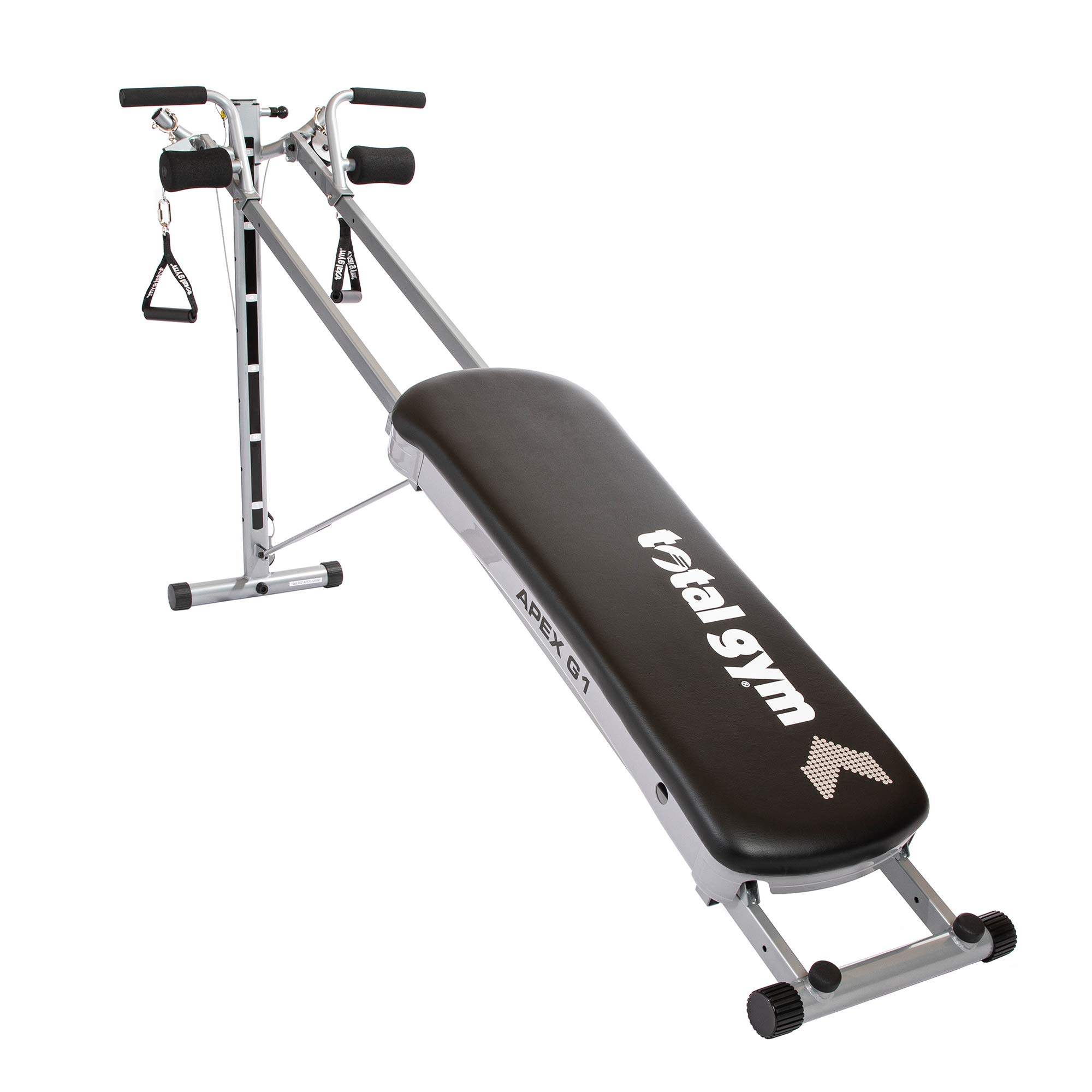 Total Gym APEX Versatile Indoor Home Workout Total Body Strength Training Fitness Equipment with up to 10 Levels of Resistance and Attachments