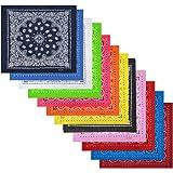 Alotpower Cotton Bandanas Multipurpose Square Handkerchiefs Headbands