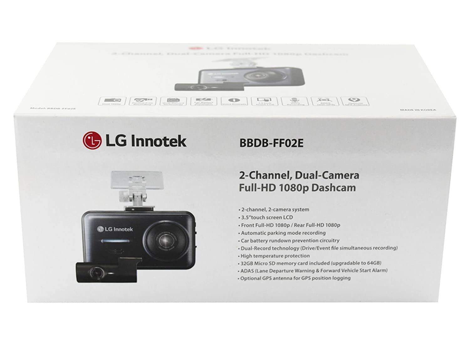 amazon com lg innotek 2 channel full hd 1080p front and rear