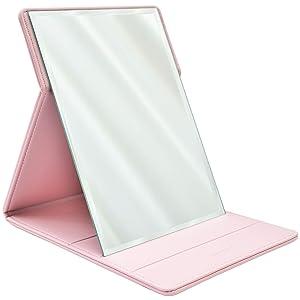 Premium Portable Travel Makeup Mirror by MODESSE (Pink)