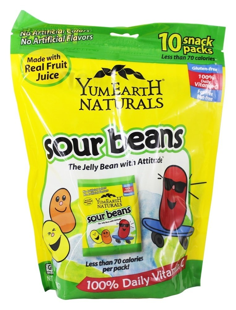 Yummy Earth - All Natural Gluten Free Sour Jelly Beans - 10 Pack(s) (pack of 2)