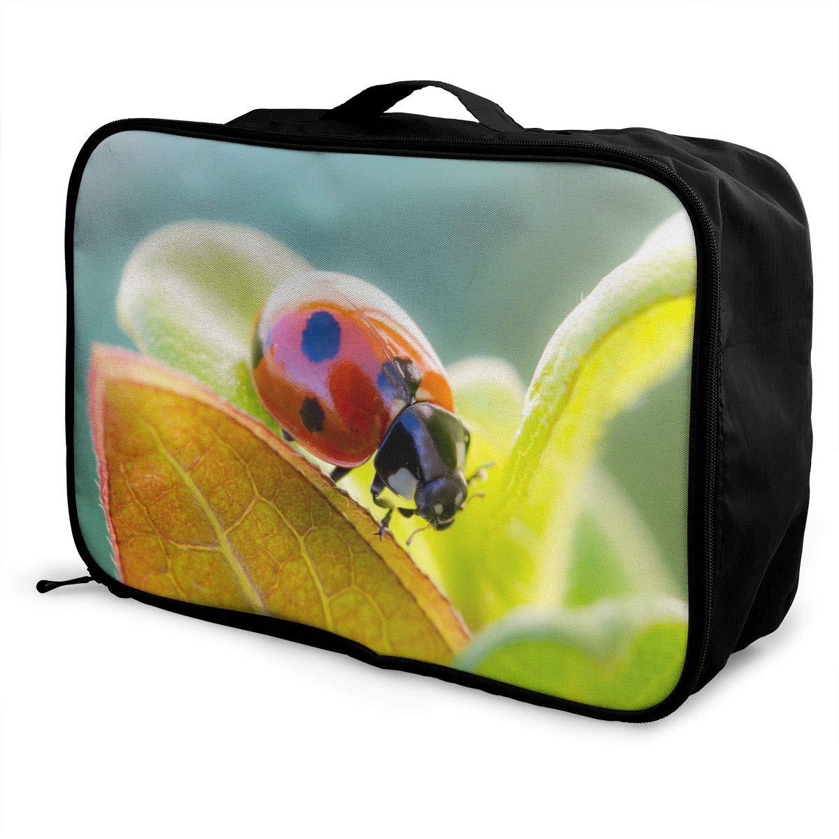 Travel Luggage Duffle Bag Lightweight Portable Handbag Coccinella Septempunctata Large Capacity Waterproof Foldable Storage Tote