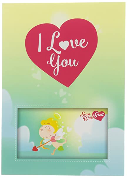 Amazon igreet augmented reality greeting card i love you igreet augmented reality greeting card i love you cupid m4hsunfo