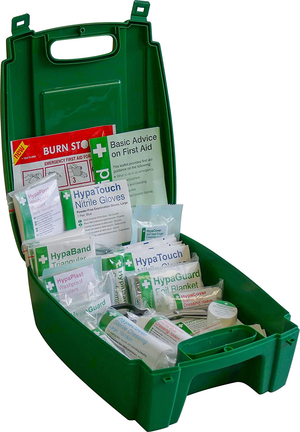 Fully Stocked 1-10 Persons Safety First Aid Cabinet BS 8599 Compliant Small