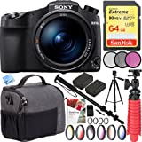 Sony RX10 IV Cyber-Shot High Zoom 20.1MP Camera 24-600mm F.2.4-F4 Lens with Tamrac Tradewind 5.1 Shoulder Bag And 72mm Filter Sets Plus 64GB Accessories Kit