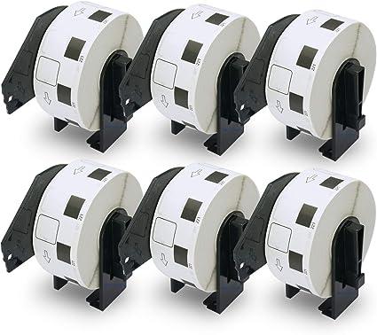 2x Drucker Etiketten für Brother DK-11221 23 x 23 mm P-Touch QL 560 QL 560 VP