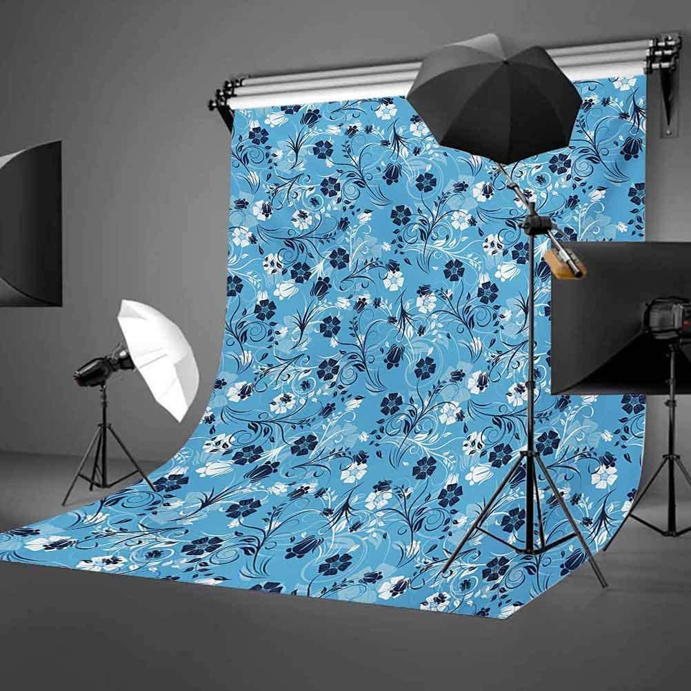 Floral 6.5x10 FT Backdrop Photographers,Swirled Mix Flower Petals Background Shabby Chic Style Classical Artsy Image Background for Baby Shower Bridal Wedding Studio Photography Pictures