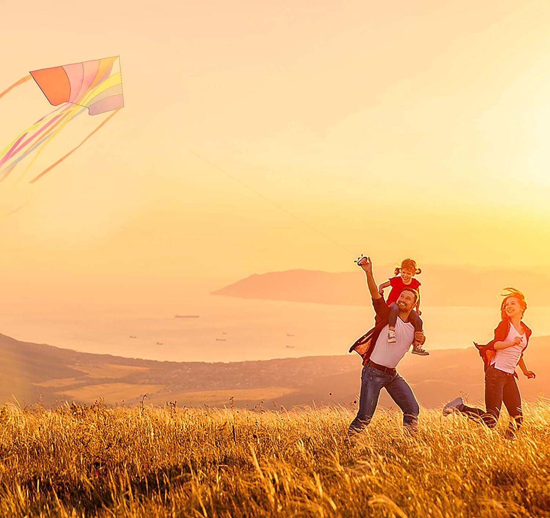 CALESON Cometa de Conejo Enorme con Cuerda Cometa f/ácil de Volar con Parque de la Playa Rosado Actividades de Juegos al Aire Libre para ni/ños y Adultos