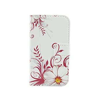 Qiaogle Teléfono Case - Funda de PU Cuero Billetera Clamshell Carcasa Cover para Motorola Moto G (1.Generation) (4.5 Pulgadas) - HY03 / Wintersweet