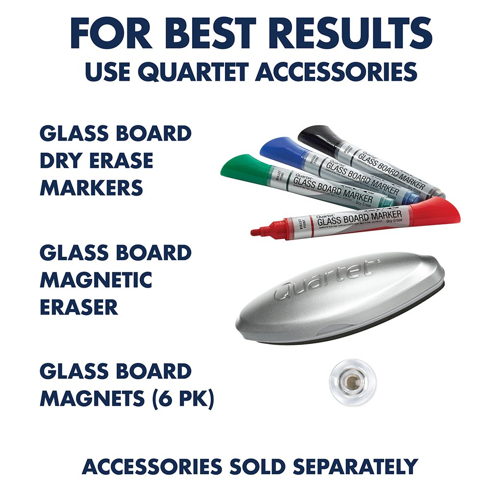 Quartet Glass Whiteboard, Magnetic Dry Erase White Board, 4' x 3', Infinity, White Surface (G4836W) by Quartet (Image #6)