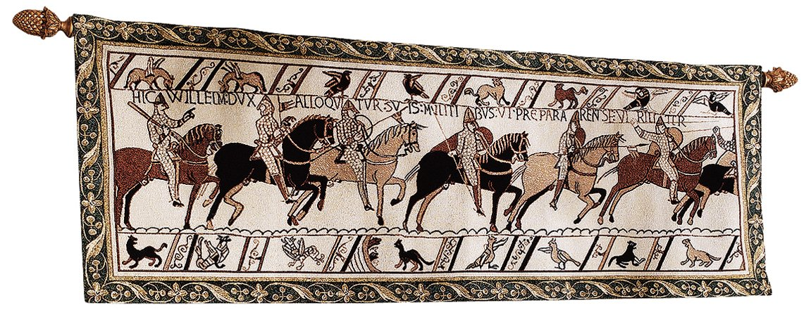 Design Toscano Duke William Battle Cry Bayeux Tapestry, Full Color