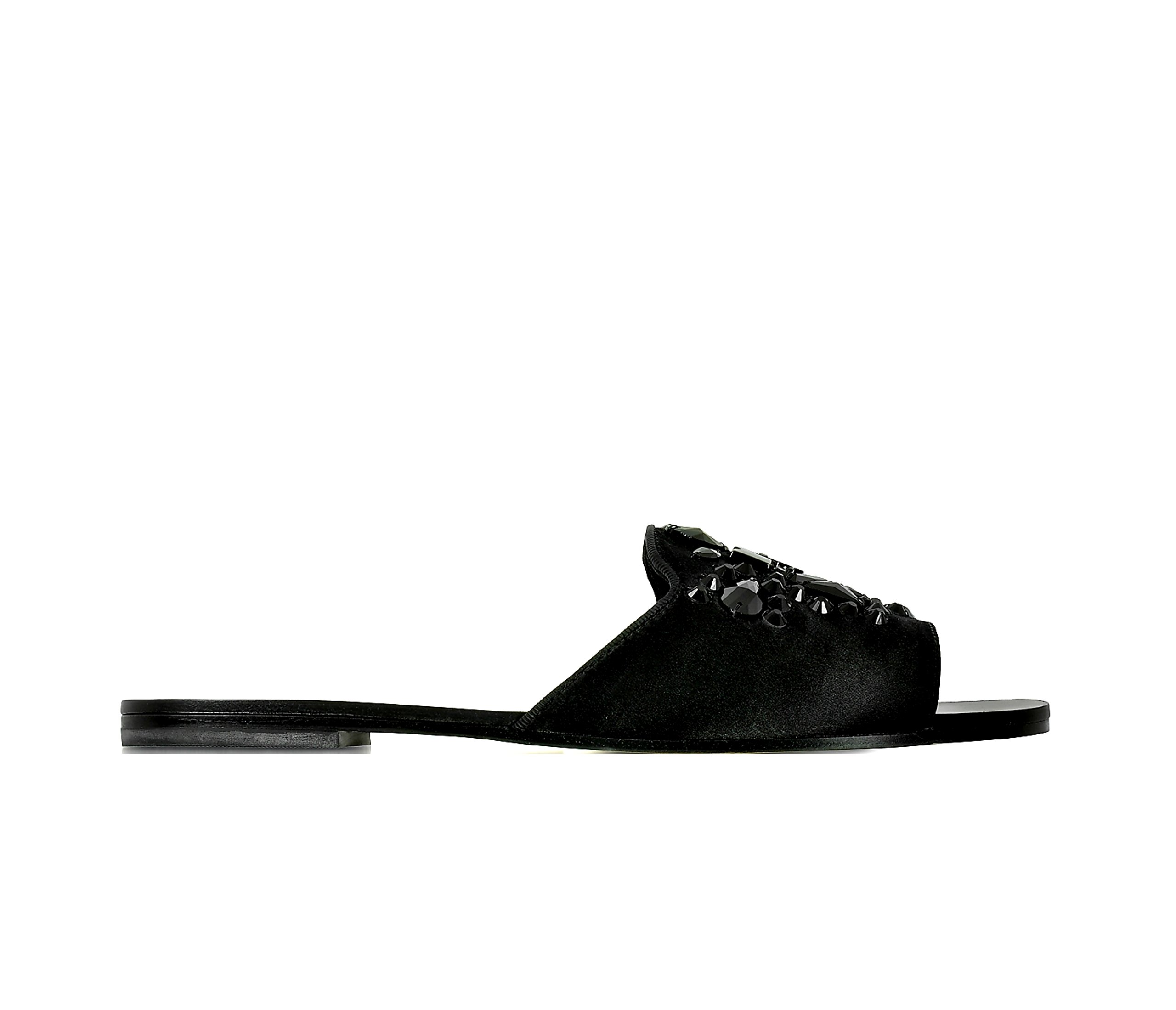 Tory Burch Black Delphine Slide Satin Lux Sandals Shoes (6)