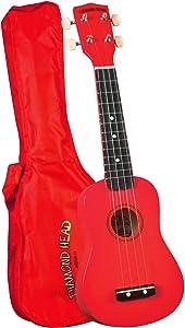 Diamond Head DU-102 Rainbow Soprano Ukulele - Red
