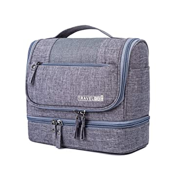 Amazon.com   Jovilife Toiletry Bag Travel Toiletries Bag Durable Hanging  Organizer (grey)   Beauty b83194f805