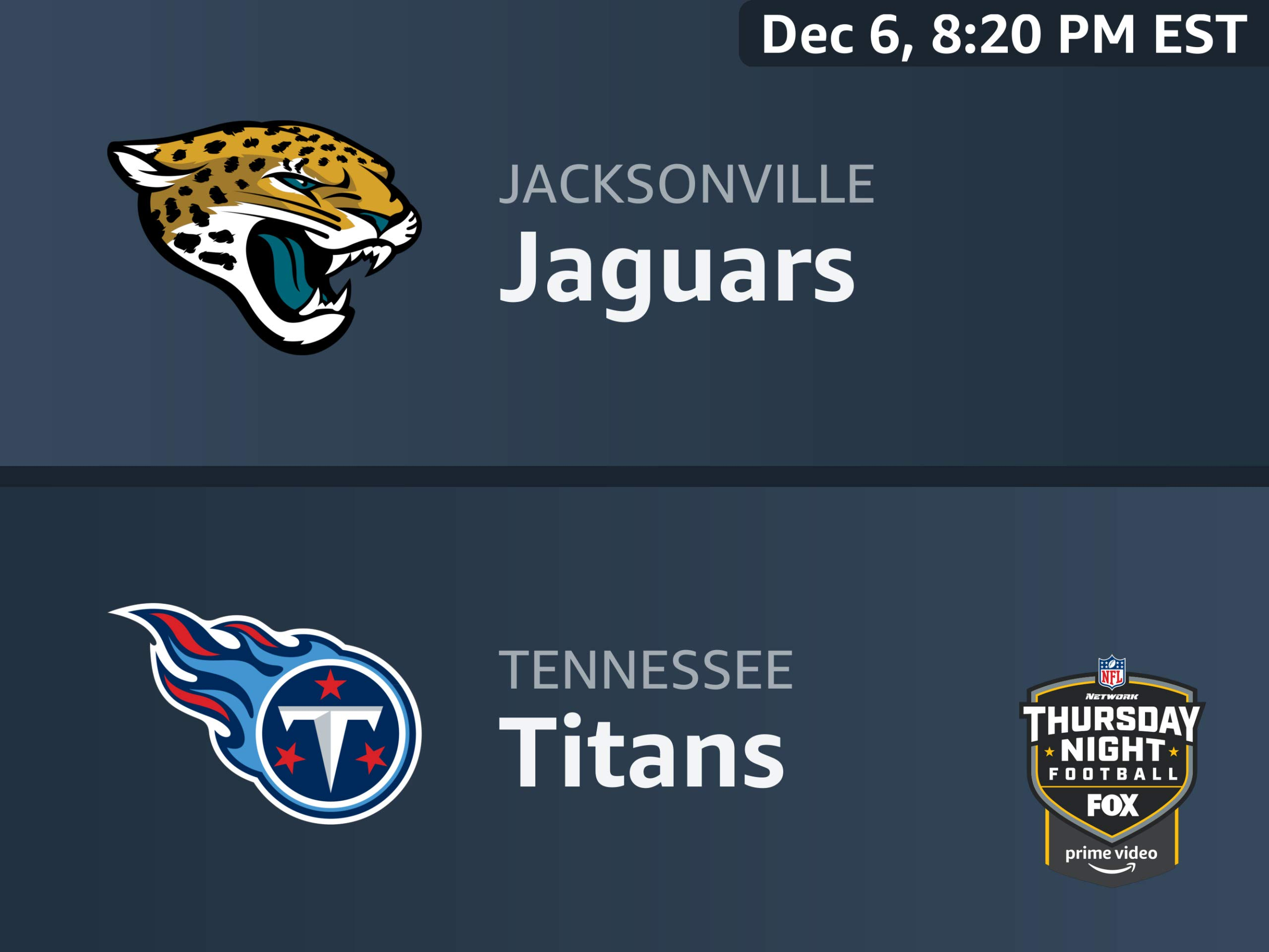 Image result for jaguars vs. titans thursday night football