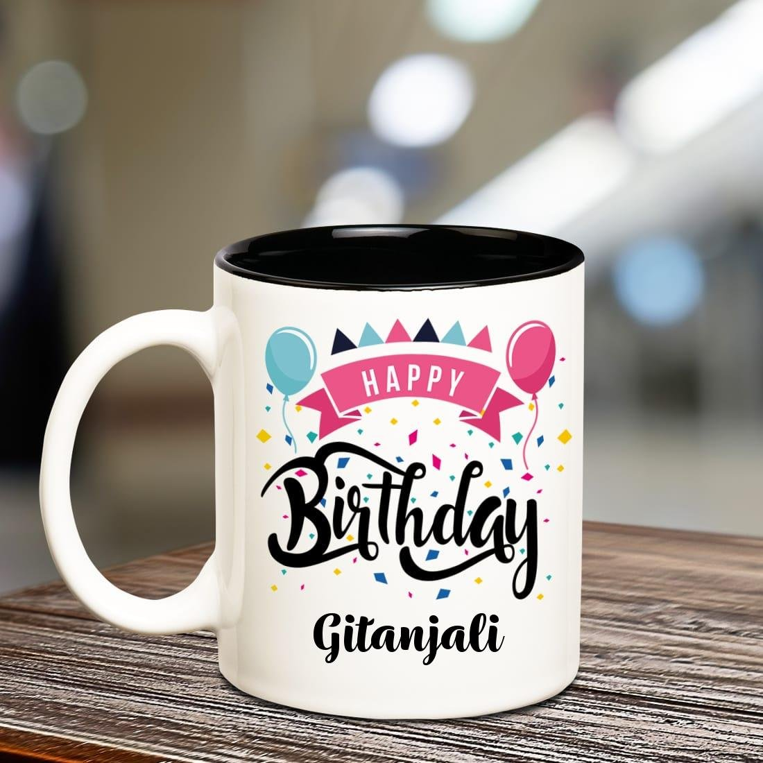 Buy Huppme Happy Birthday Gitanjali Inner Black Printed Personalized