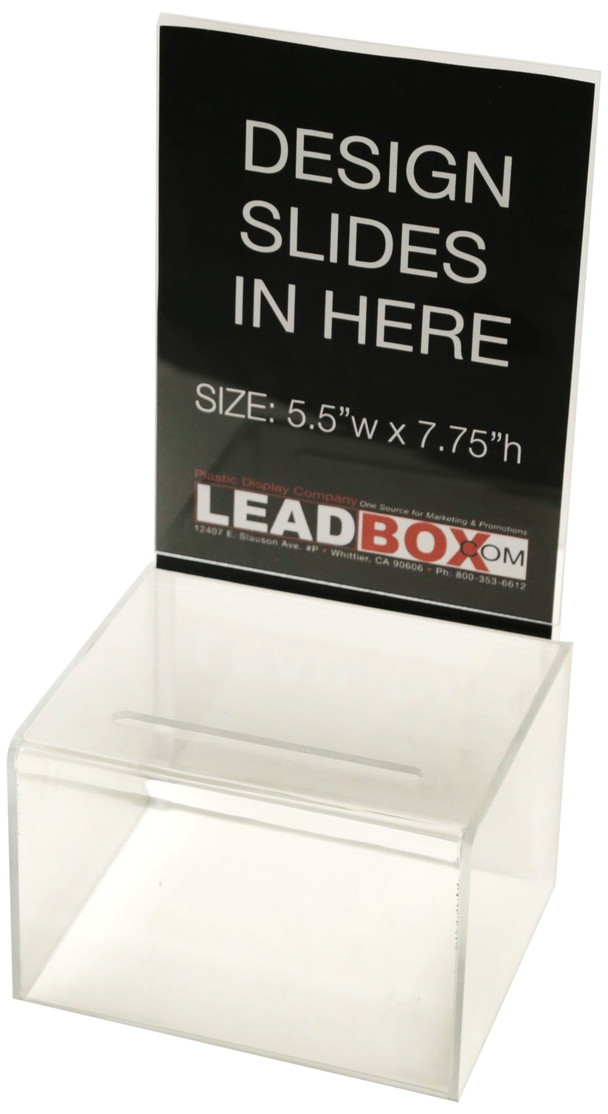 Inexpensive Suggestion Box (Clear) | For Every Occasion | Tips, Donations, Surveys and much more! | Great for businesses and schools to use | (2 Pack)
