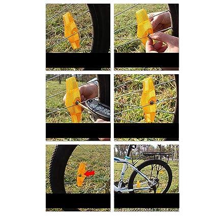 Qewmsg Bicicleta Rueda habló Lente Reflectante MTB reflectores de Bicicleta de Carretera para Ciclismo