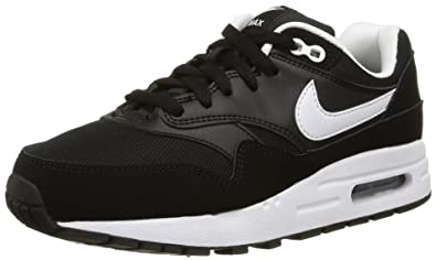 sports shoes 53575 ff59f Nike Air Max 1, Sneakers Basses mixte enfant, Noir (Black 001),