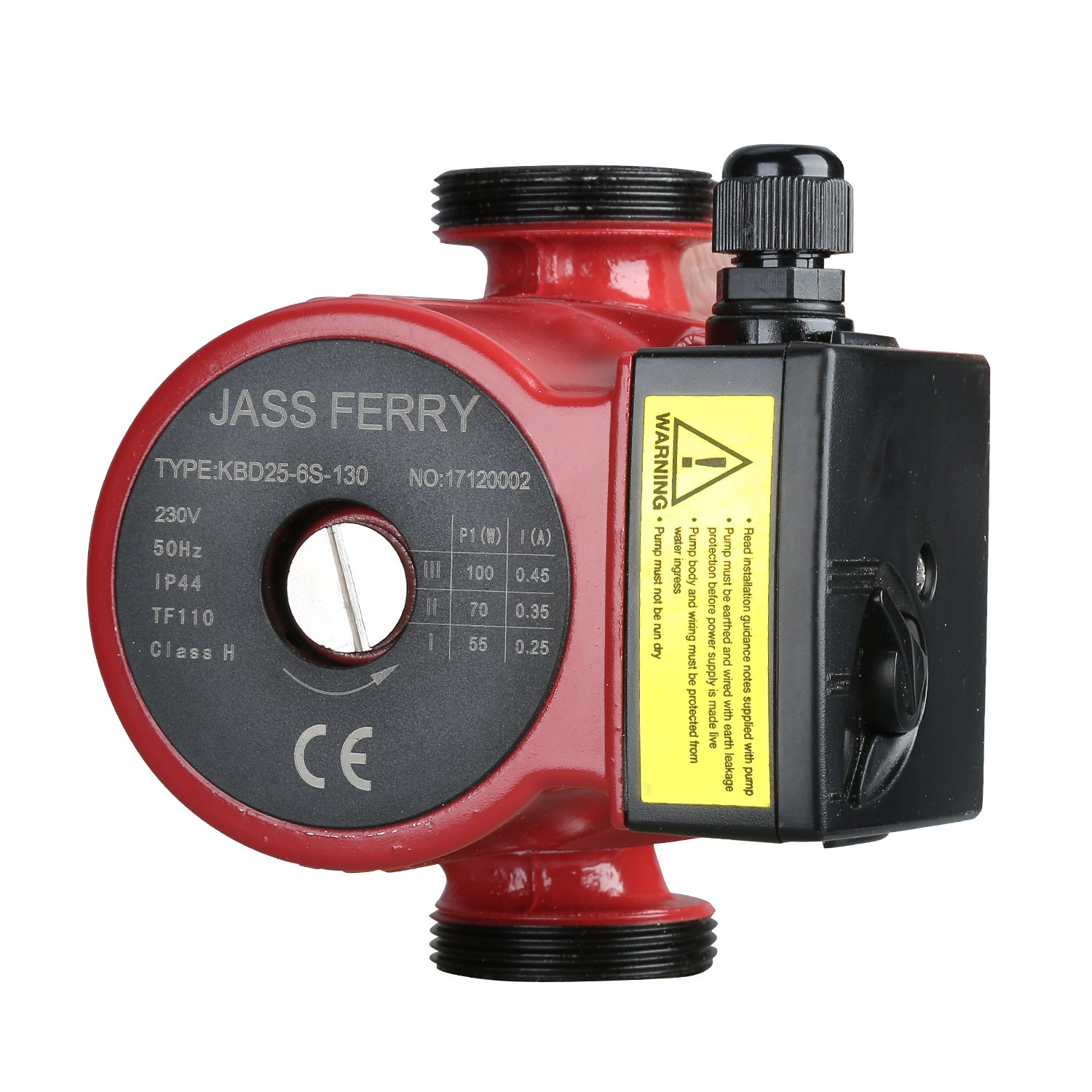 JASS Ferry Central Heating Pumps Boiler Circulating Hot Water Circulation Systems & Cooling Replacement 60 decimetres Head KBD25-6S-130 1-1/2'