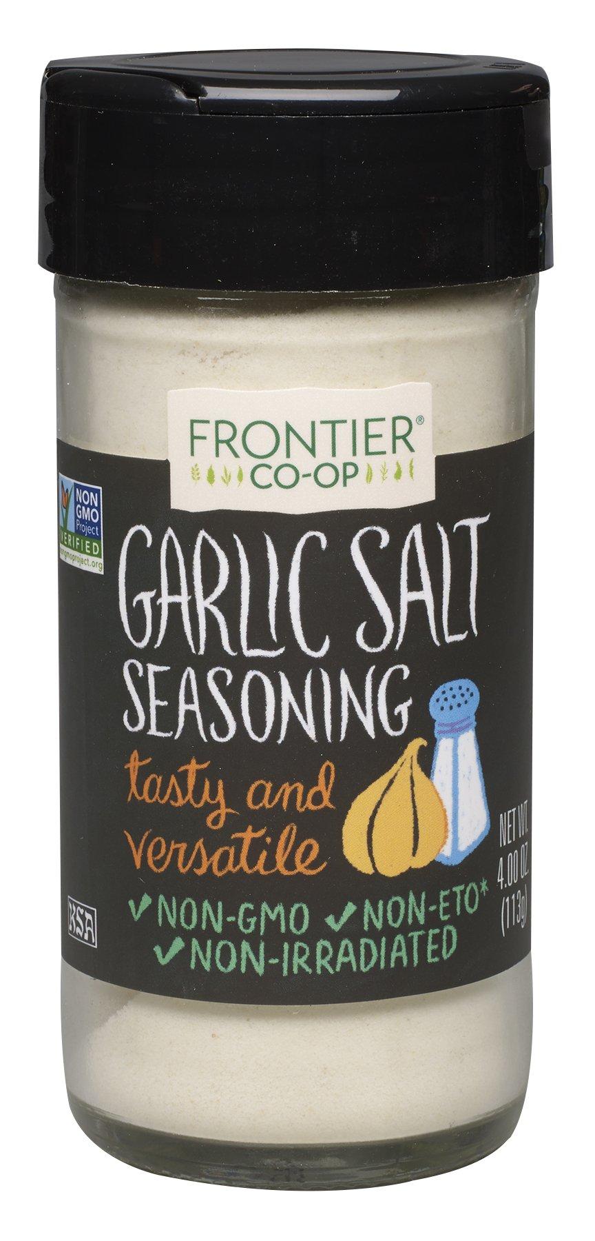 Frontier Garlic Salt, 4-Ounce Bottles (Pack of 3)