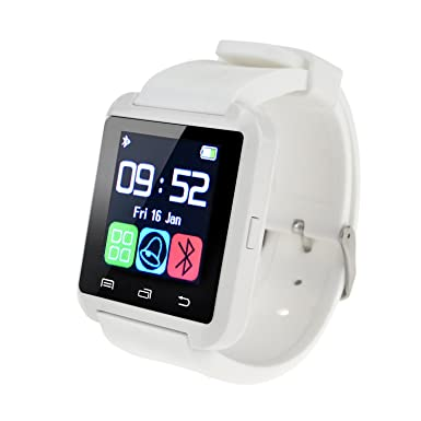880fdfb31 Bluetooth Smart Watch Wrist Wrap Watch Phone Smart Watch for IOS Android  Phones Samsung S2 S3 S4 S5 Note 2 Note 3 HTC (White)  Amazon.co.uk   Electronics