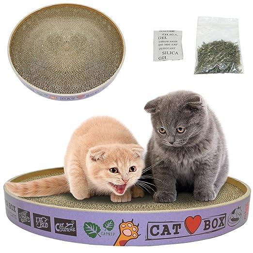 syalex (TM) Ronda rascador de cartón corrugado Cat Kitten Play ...