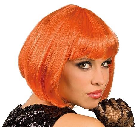 Perruque Cabaret Orange - Taille Unique