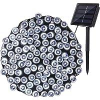 NEXVIN Guirnalda Luces Exterior Solar, 22M 200 LED Cadena de Luz Solar Resistente Al Agua, Luces Blanco Decoración Para Arbol, Patio, Jardín, Boda, Festivales